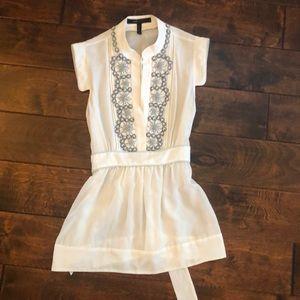 BCBG sleeveless silk blouse size XS